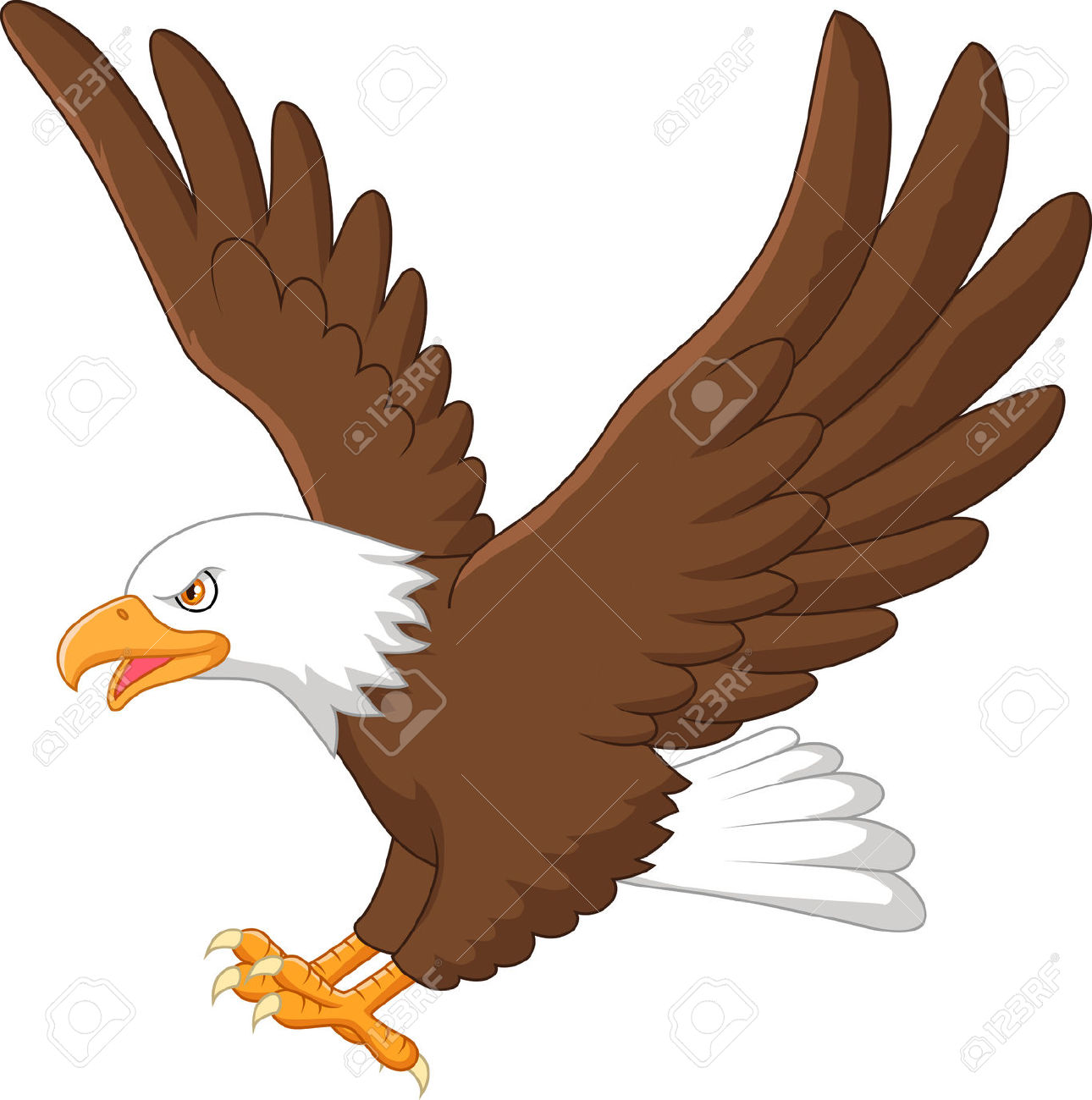 Simple clipart hawk #12