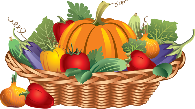 Fruits & Vegetables clipart basket drawing The Cliparts clipart Free Harvest