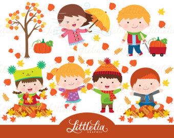 Harvest clipart autumn kid Etsy clipart 16045 Autumn clipart