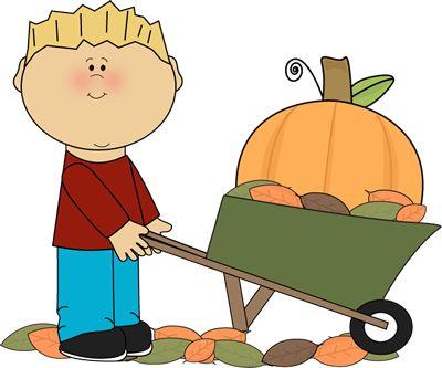 Harvest clipart autumn kid About Art pumpkin wheelbarrow on