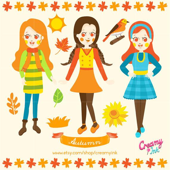 Harvest clipart autumn kid Flower Clipart  Harvest Girl