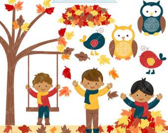 Harvest clipart autumn kid Autumn Use Graphics Leaves Autumn