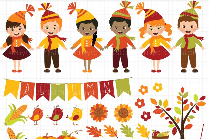 Harvest clipart autumn kid Harvest By Happy Kids Fall