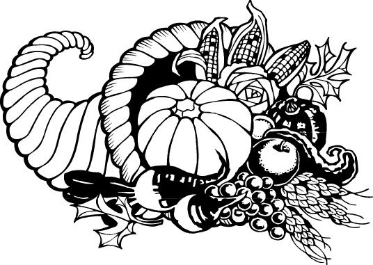 Harvest clipart black and white Black black white thanksgiving black