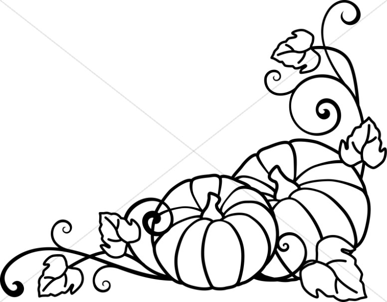 Harvest clipart black and white Clipart and Day Sharefaith Pumpkins