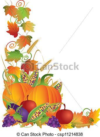 Harvest clipart border Basket Royalty Collection Illustration harvest
