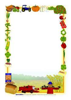 Harvest clipart border  (SB5475) Harvest A4 borders