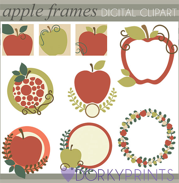 Harvest clipart colorful frame Apples Personal Personal Commercial