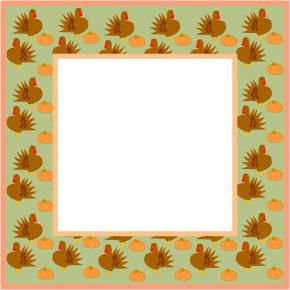 Harvest clipart colorful frame Thanksgiving Art Thanksgiving Borders Graphics