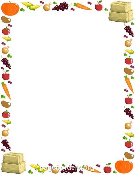 Harvest clipart colorful frame The in Printable harvest Pinterest