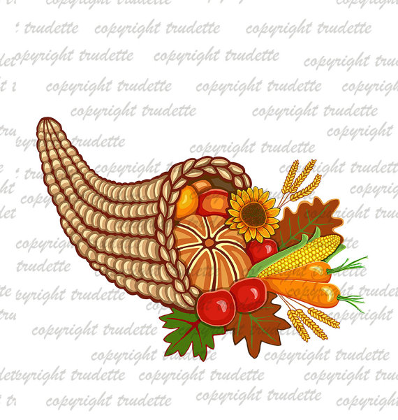 Harvest clipart cornucopia Digital Clipart Clip Autumn Horn