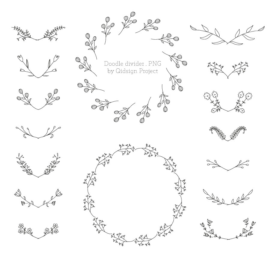 Harvest clipart divider Doodle Use Foliage Foliage Clipart