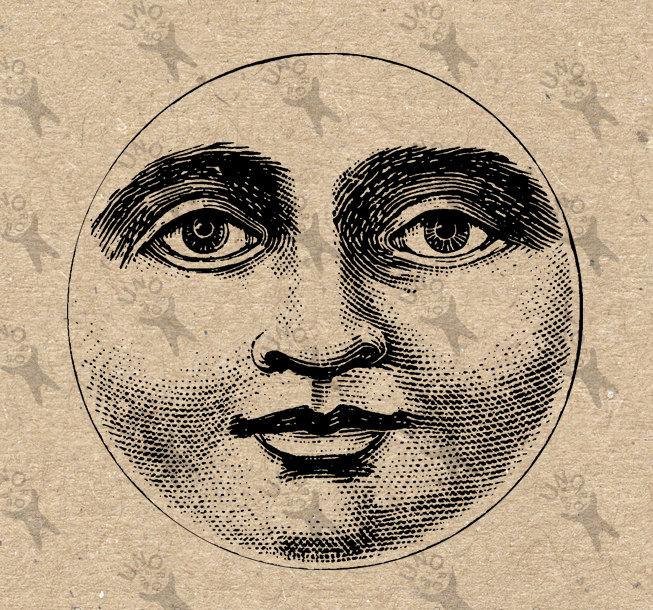 Harvest clipart face Moon face Digital Like Clipart