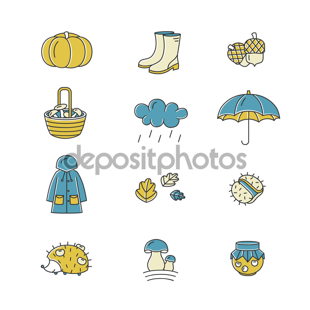 Harvest clipart fall weather Different and  collection linear