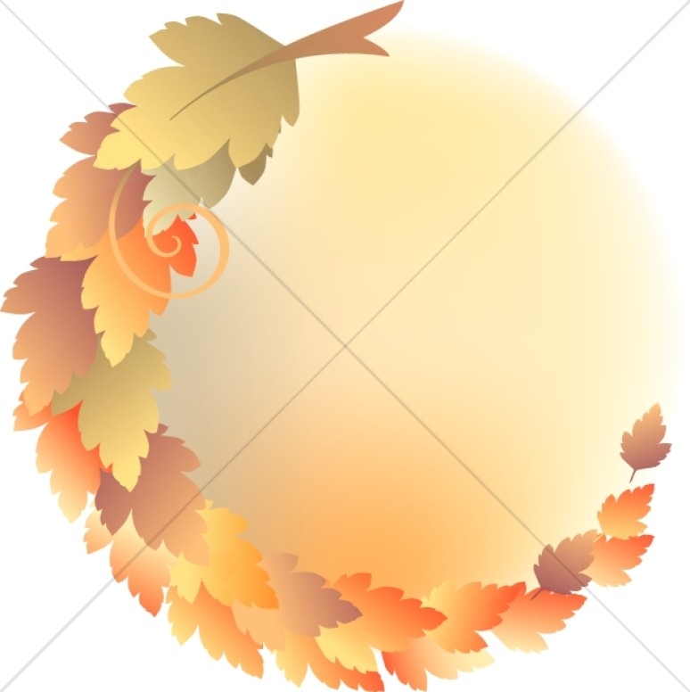 Leaves clipart circle #9