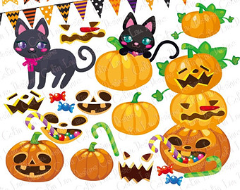 Zombie clipart pumpkin Art clipart Fall Black Pumpkin