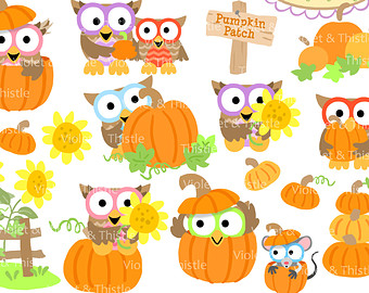Owl clipart pumpkin Pumpkin Owl Clipart Patch clipart