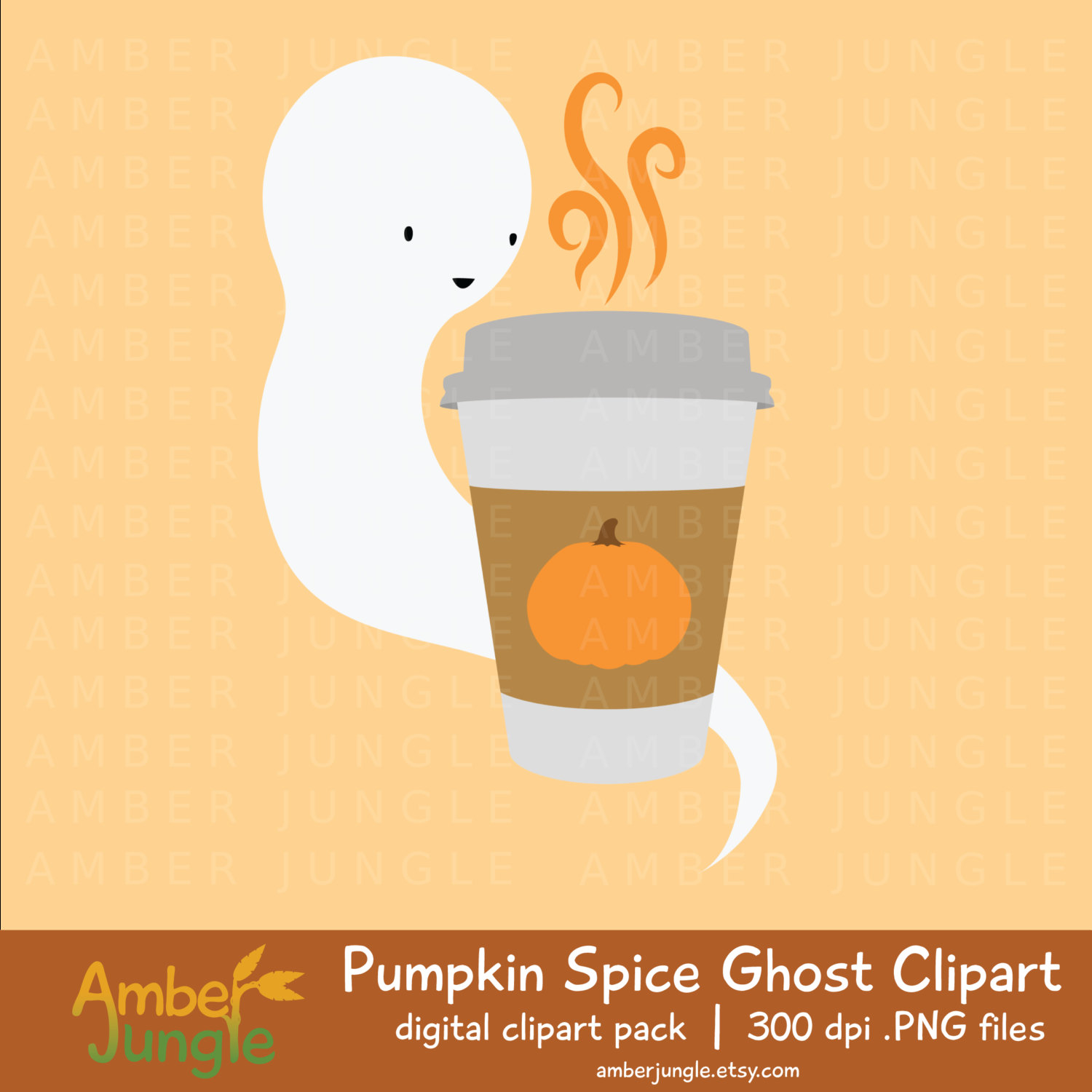 Ghostly clipart fall #5