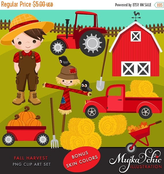 Haystack clipart straw hay Farmer clipart Clipart tractor characters