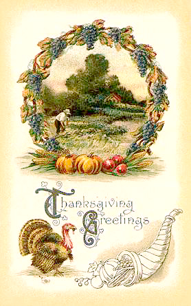 Cornucopia clipart vintage Vintage thanksgiving Art clip wreath