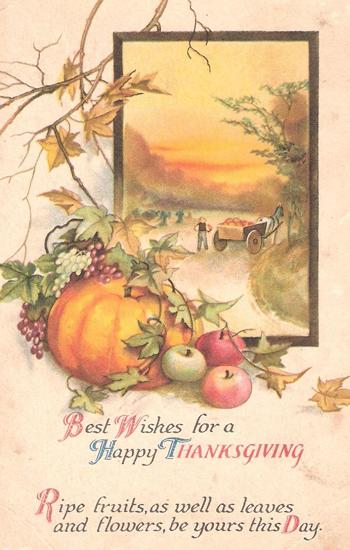 Cornucopia clipart thanksgiving blessing Thanksgiving Vintage Harvest clipart vintage