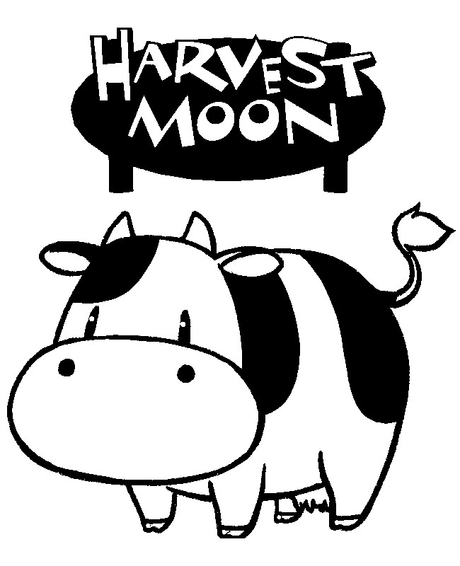 Harvest Moon clipart black and white Harvest Coloring 10 Harvest Moon