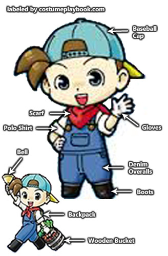 Harvest Moon clipart blue moon Costume moon (Girl Costume and