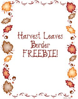 Harvest Moon clipart borders FREEBIE! FALL Border the 14