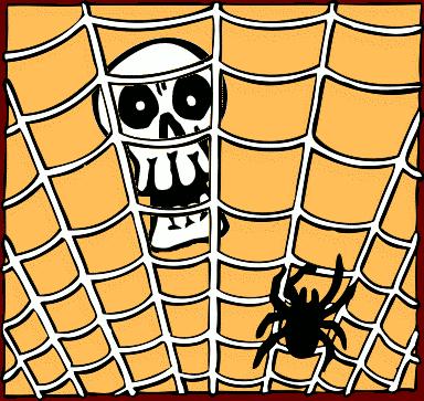 Harvest Moon clipart cobwebs All Hallows Eve Clipart Domain