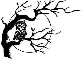 Harvest Moon clipart creepy Clipart Domain Owl Owl Public