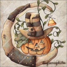 Harvest Moon clipart fall pumpkin Pinterest White 2 com/digiscraps/ Musser