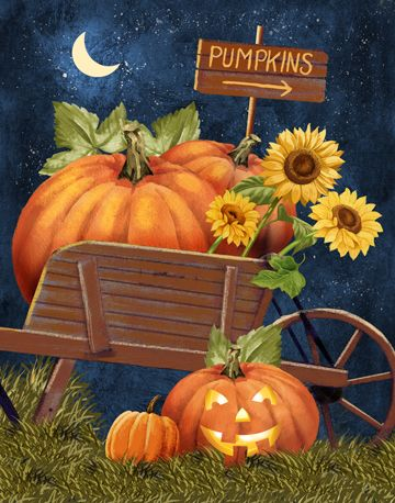 Harvest Moon clipart fall pumpkin Clipart backgrounds & Pin on