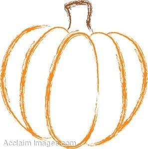 Drawn pumpkin pumkin Line Drawing And Fall Art