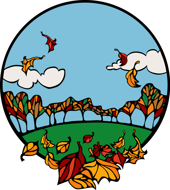 Harvest Moon clipart fall scene Autumn Seasonal Graphics Fall and