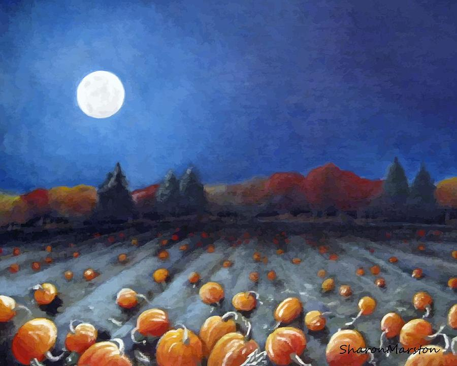 Harvest Moon clipart fall scene Frosty Moon Right Painting Frosty