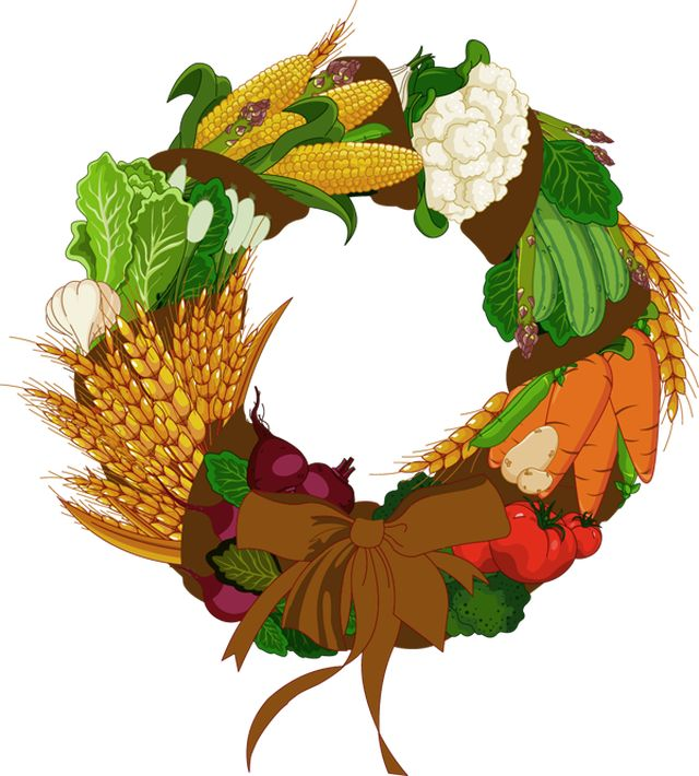 Harvest Moon clipart fall vegetable Wreath Vegetables about Seasonal Fall