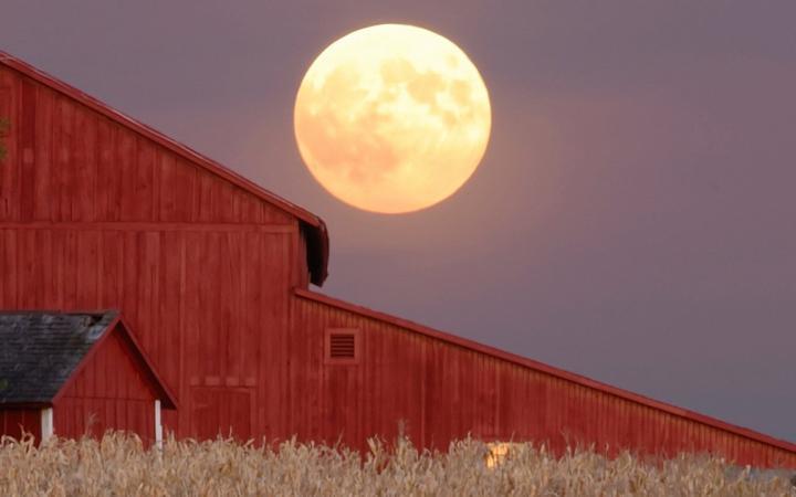 Lunar clipart harvest moon Old Farmers September Almanac 2017