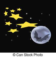 Harvest Moon clipart halloween bat Stars Harvest Clip 284 and