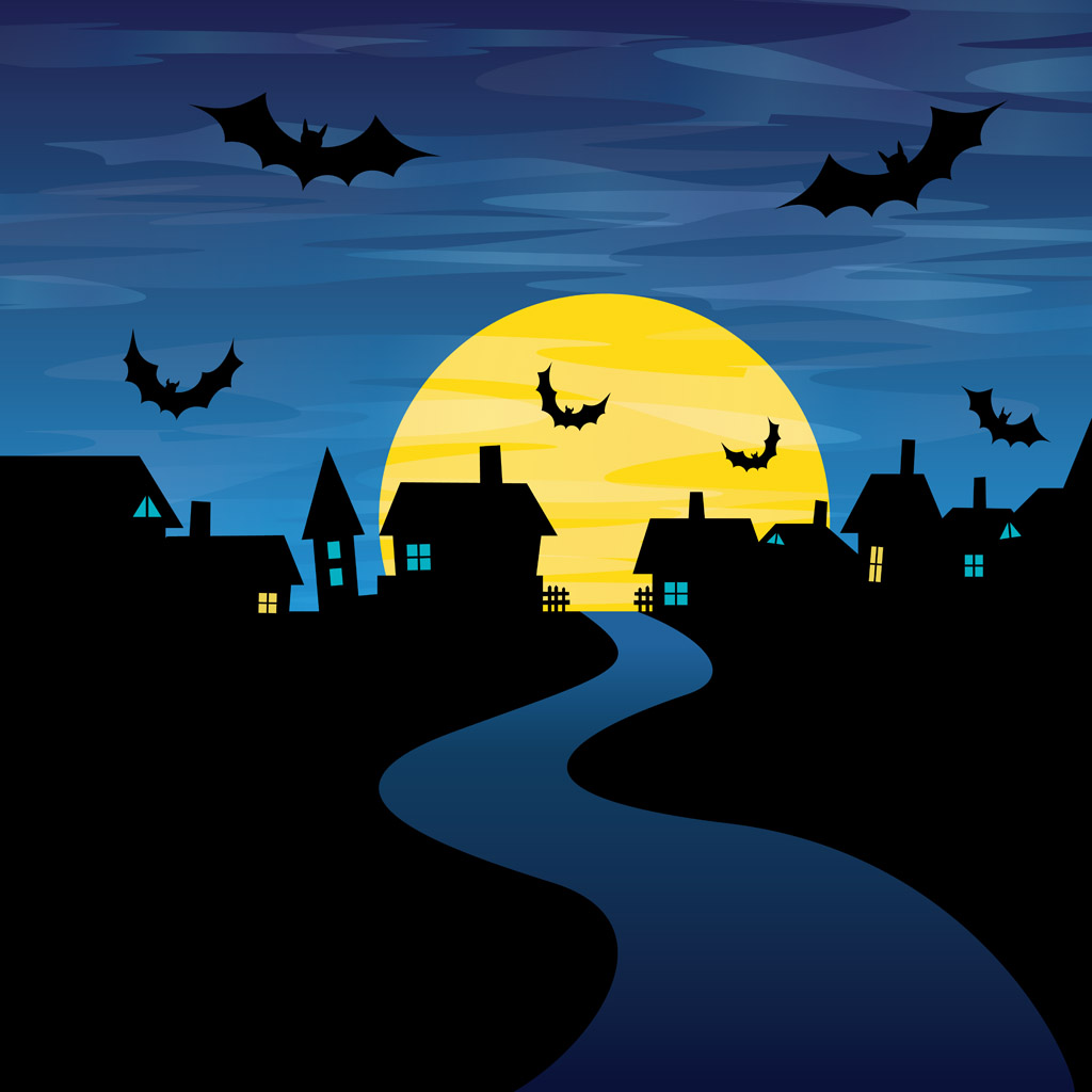 Harvest Moon clipart halloween bat Night Halloween  Moon Publicidad