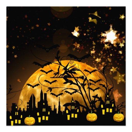 Harvest Moon clipart halloween bat Witch Moon Pinterest Card images