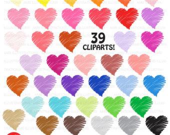 Harvest Moon clipart haloween Valentine Little Hearts on Clipart