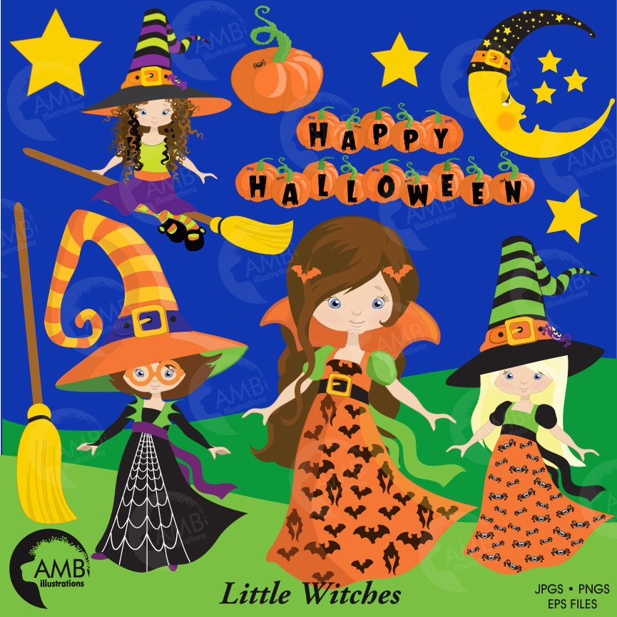 Harvest Moon clipart haloween Clipart on Witches This