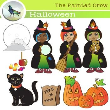Harvest Moon clipart haloween Witches 104 Little on Crow