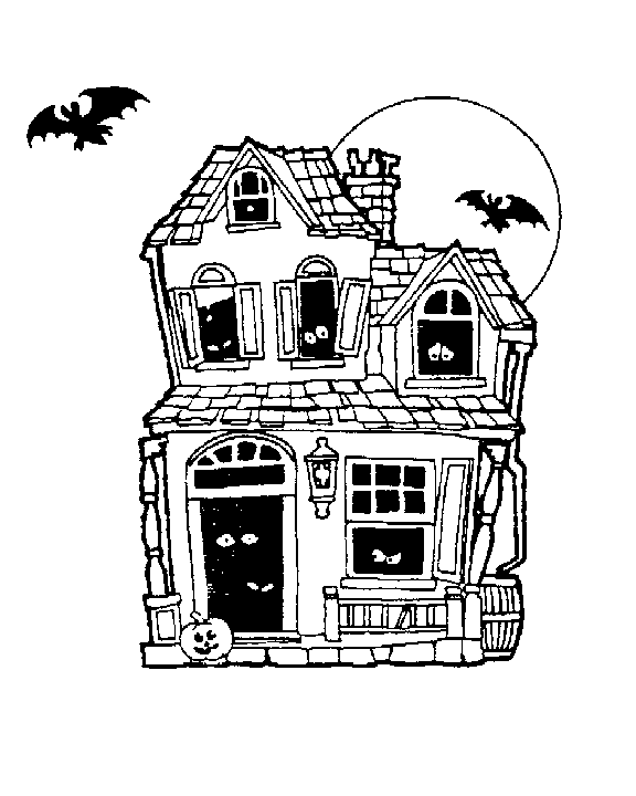 Mansion clipart creepy house Free Moon art Full Public
