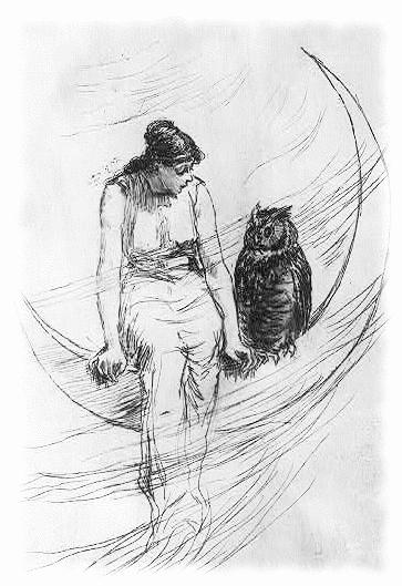 Witchcraft clipart halloween full moon Halloween Owl Halloween Owl Public
