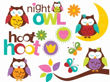Harvest Moon clipart night owl Night Clipart Clipart Owls Night