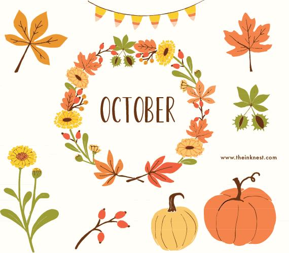 Orange Flower clipart happy birthday flower October ink the Art Clipartix