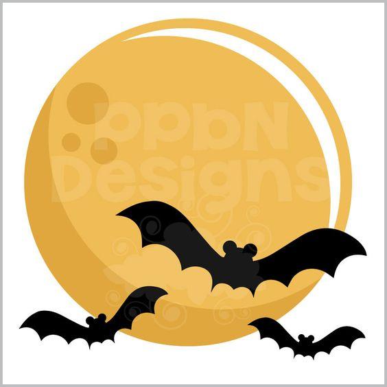 Harvest Moon clipart orange halloween Files file Flying freebie Harvest