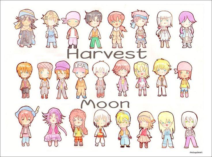 Harvest Moon clipart september season About Pinterest Chibi 100 Moon
