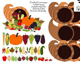 Harvest Moon clipart thanksgiving Thanksgiving Clipart Etsy art Cornucopia